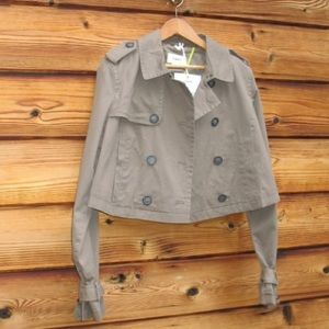 NWT Tommy Hilfiger olive Cropped Trench Jacket